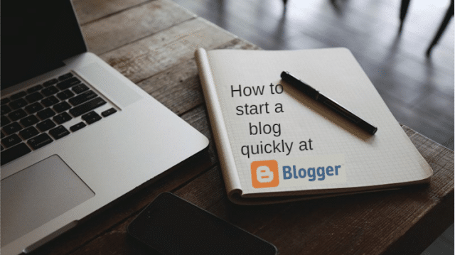 Create a free blog at blogger