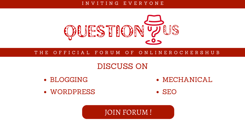 Inviting Readers for QuestionUs forum