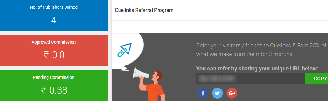 Cuelinks Referral Program to make money