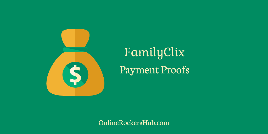 My FamilyClix Payment Proofs Collection – Little earnings