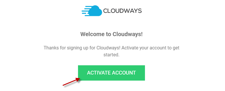 Activate your Cloudways account
