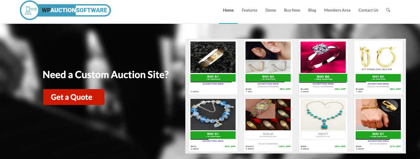 WPAuctionSoftware WordPress Plugin