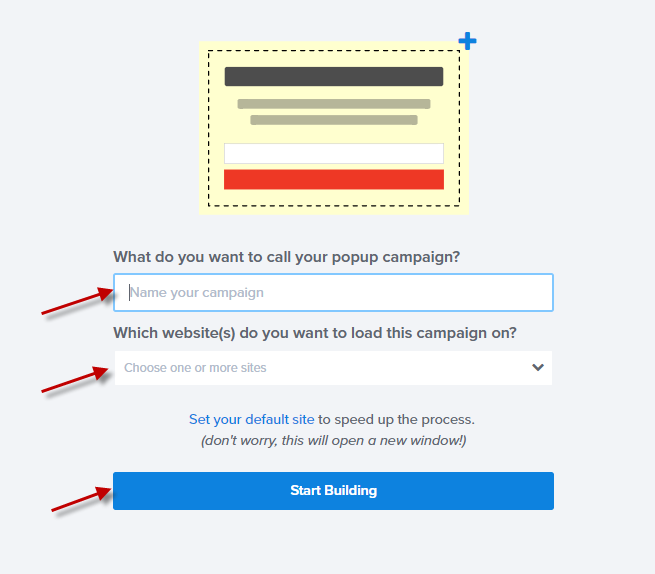 Enter the details of your OptinMonster campaign