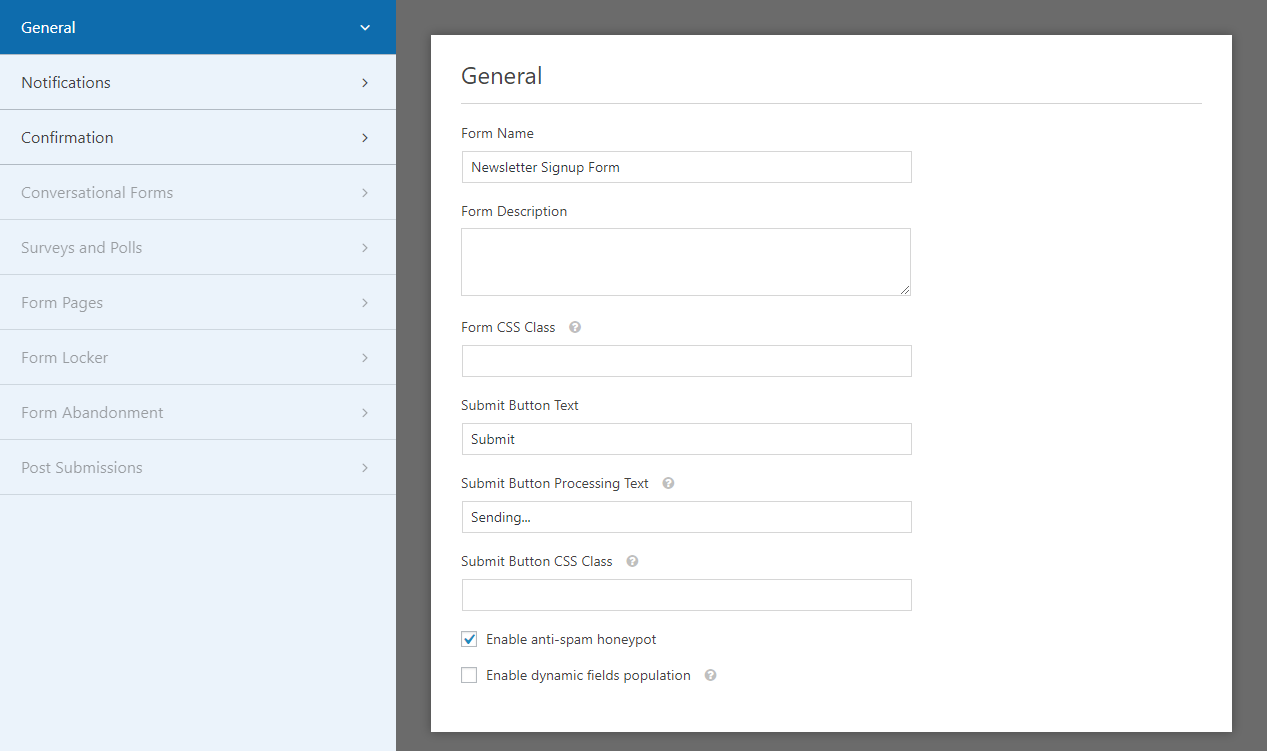 Customization Options in WPForms