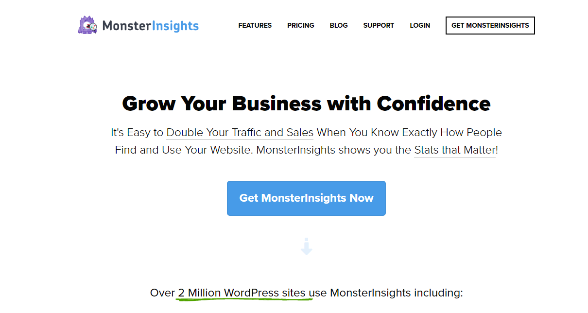 MonsterInsights Homepage - The Best Google Analytics WordPress Plugin