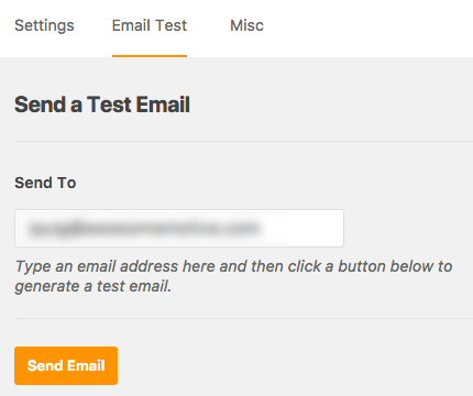 send wp mail smtp test email