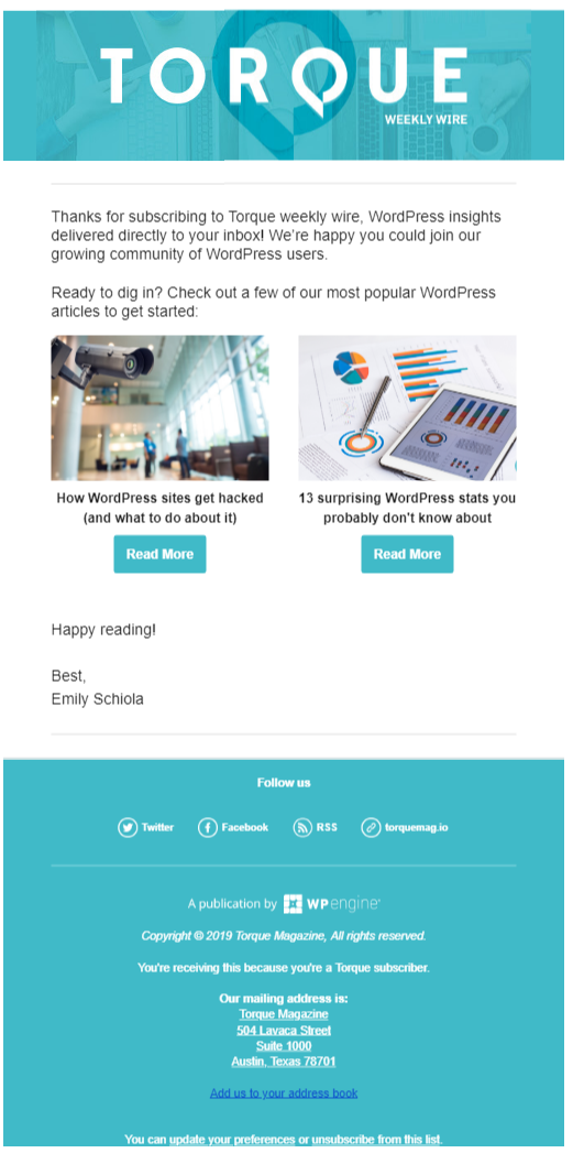 Email Marketing from Torque