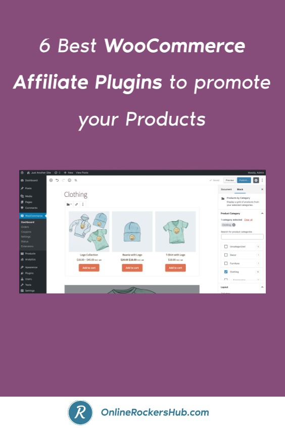 6 Best WooCommerce Affiliate Plugins to promote your Products - Pinterest Image