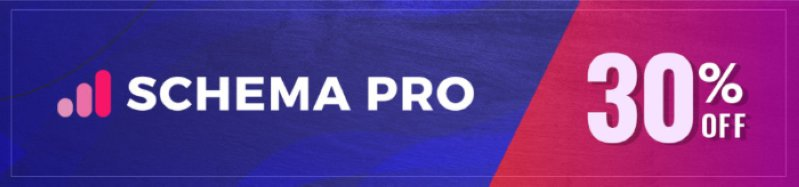 Schema Pro Black Friday sale Banner