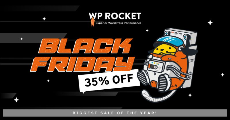 WP Rocket - Black Friday 35% off banner
