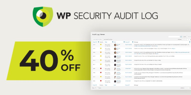 WP Security Audit Log Banner