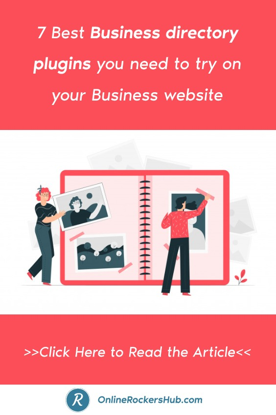 7 Best Business directory plugins you need to try on your Business website - Pinterest Image