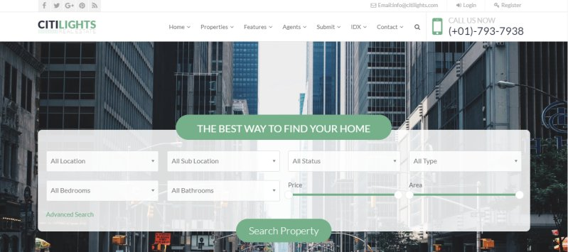 CitiLights - Best Real Estate WordPress Theme