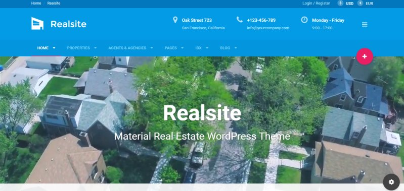 Realsite - Best Real Estate WordPress Theme