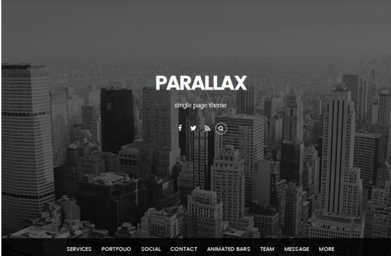 parallax - best wordpress portfolio theme